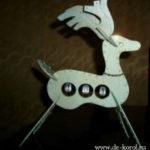 Красивый олень из бумаги или пенополистирола (пошаговый мастер класс)