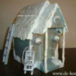Красивая поделка зимний домик или как сделать декоративный домик своими руками