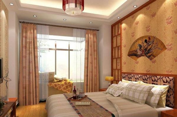 Дизайн небольшой спальни с одним окном