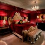 Красная спальня – яркая, эффектная, впечатляющая!