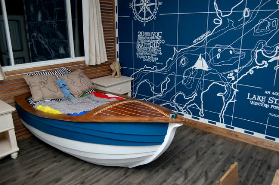 Детская комната в морском стиле.