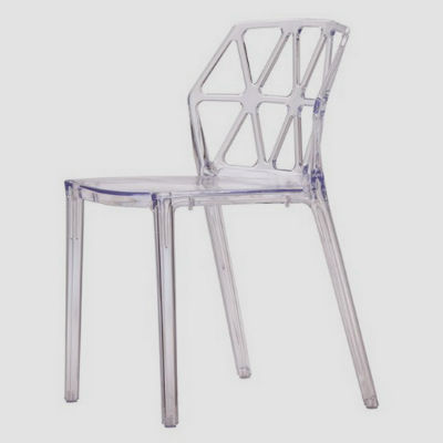 Пластиковые прозрачные стулья в интерьере (более 55 фото)