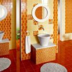 Невероятно красивая оранжевая ванная комната (50 фото интерьеров)