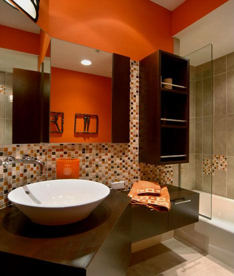 Badezimmer orange