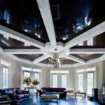 Черный потолок в интерьере – завораживающий эффект (40 фото)