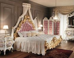 Cпальня в розовых тонах.