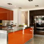Яркая и незабываемая оранжевая кухня (более 30 фото)