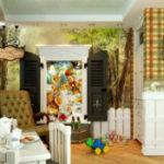 Интересная детская комната в стиле «Алисы в стране чудес»
