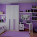 Фиолетовая детская комната – воплощение детской мечты