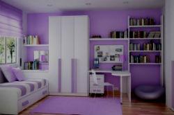 Фиолетовая детская комната.