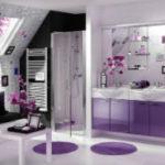 Фиолетовая ванная комната – стильно и актуально (35+ фото)