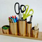 Как сделать подставку для карандашей. 21 идея необычных карандашниц