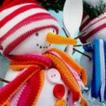 Снеговик из носка или как сделать снеговика из носка