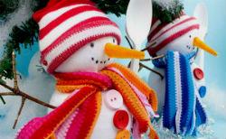 Снеговик из носка.