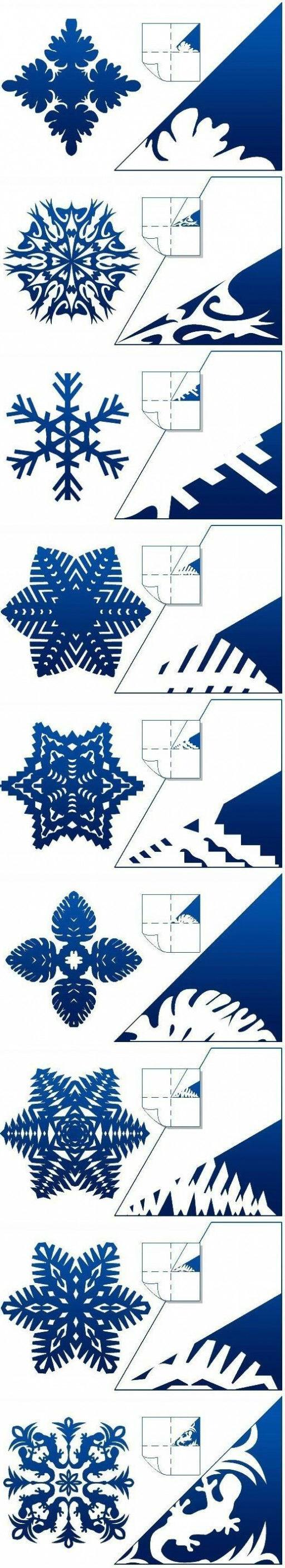 Как сделать снежинку из бумаги чертеж