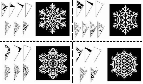 как сделать снежинку в домашних условиях из бумаги