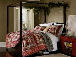 Новогодний декор спальни.