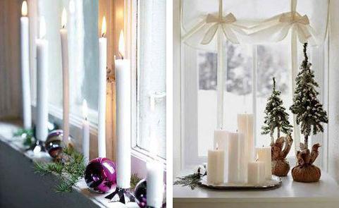 Картинка как украсить окно к новому году