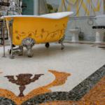 Необычная плитка для ванной (50 фото)