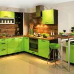 Выразительный дизайн кухни в зеленом цвете (50+ фото)