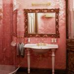 Стильная и модная ванная в розовых тонах. Более 50 фото
