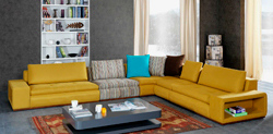Угловые диваны в интерьере гостиной, фото.