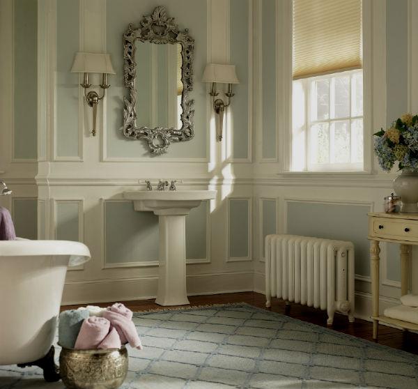Мятный цвет в интерьере ванной комнаты.