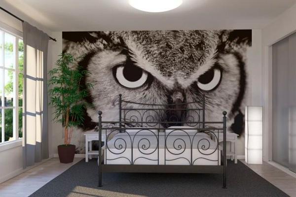 Фотообои в интерьере спальни, фото.