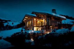 Дом Шале в Альпах.