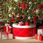 Как украсить основание елки: более 40 фото