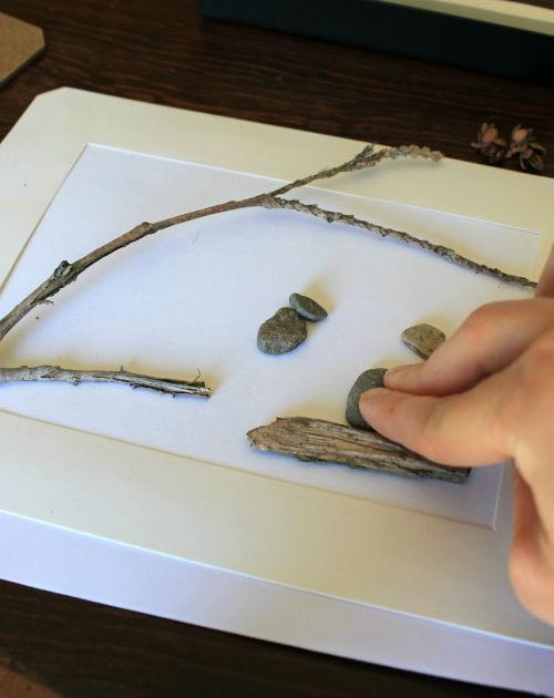 Картины из камешков: красота из доступных материалов