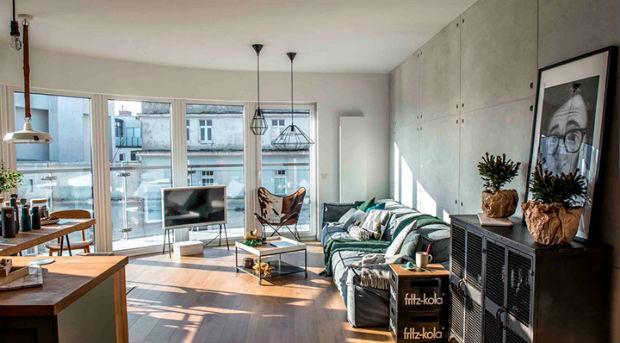 Просторная, стильная и светлая квартира в Польше