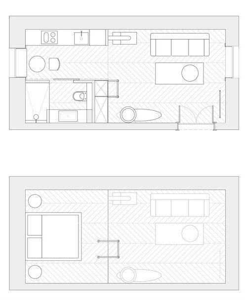 Интересная квартира студия в Польше площадью 30 кв. м.