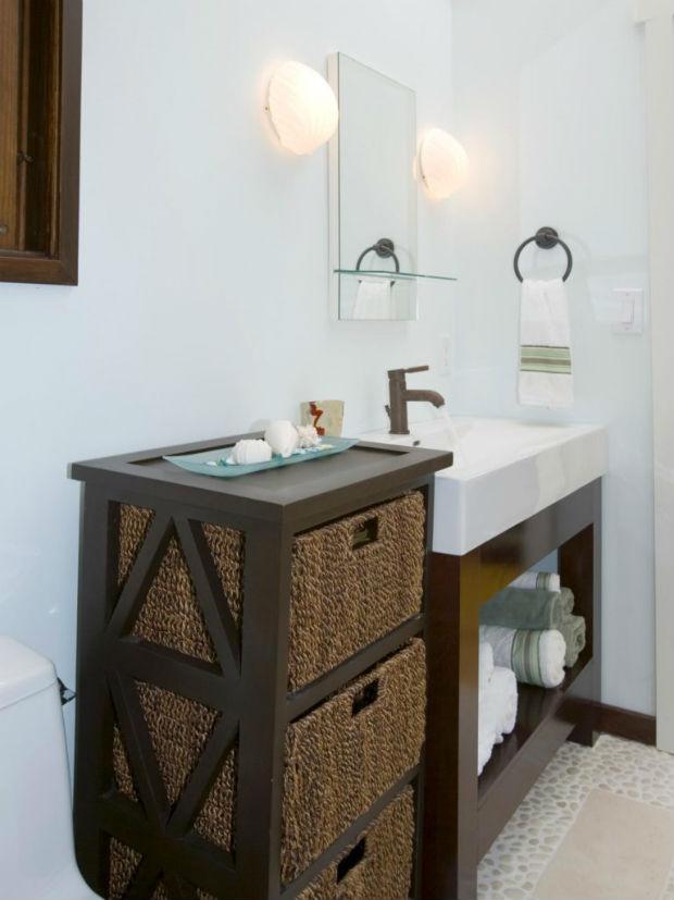 Плетеные корзины в дизайне интерьера: красиво, практично, уютно (80+ фото)
