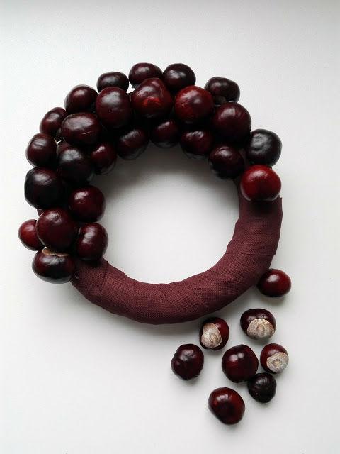 Венок из каштанов мастер класс - отличный элемент праздничного декора