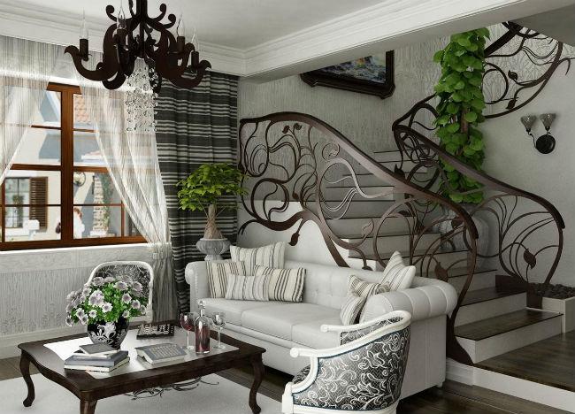 Интерьер в стиле Арт-нуво - классические нотки с растительными тенденциями (более 55 фото)
