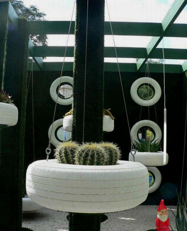 Лучшие садовые идеи: клумбы из покрышек своими руками