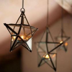 Новогодний декор звездами.