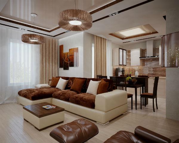 модные угловые диваны в интерьере гостиной фото