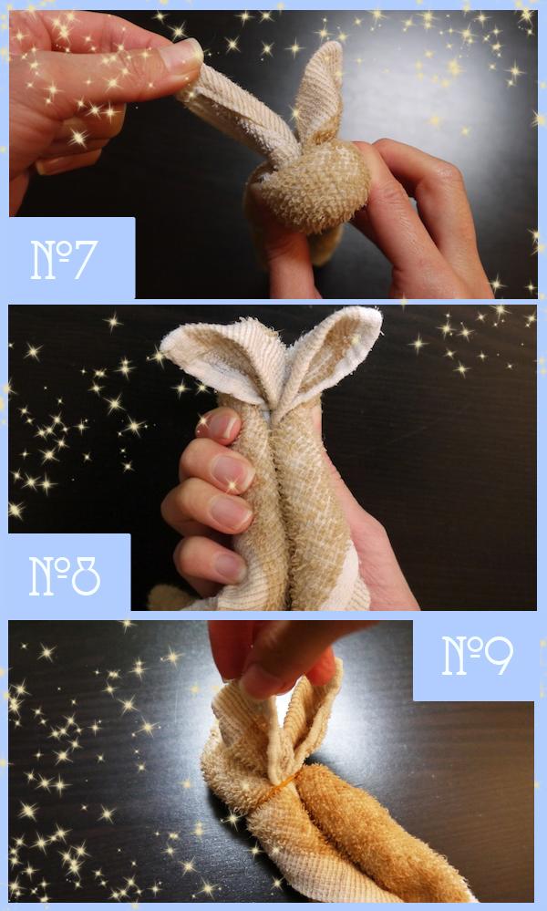 Зайчик из полотенца своими руками: мастер-класс с пошаговыми фото