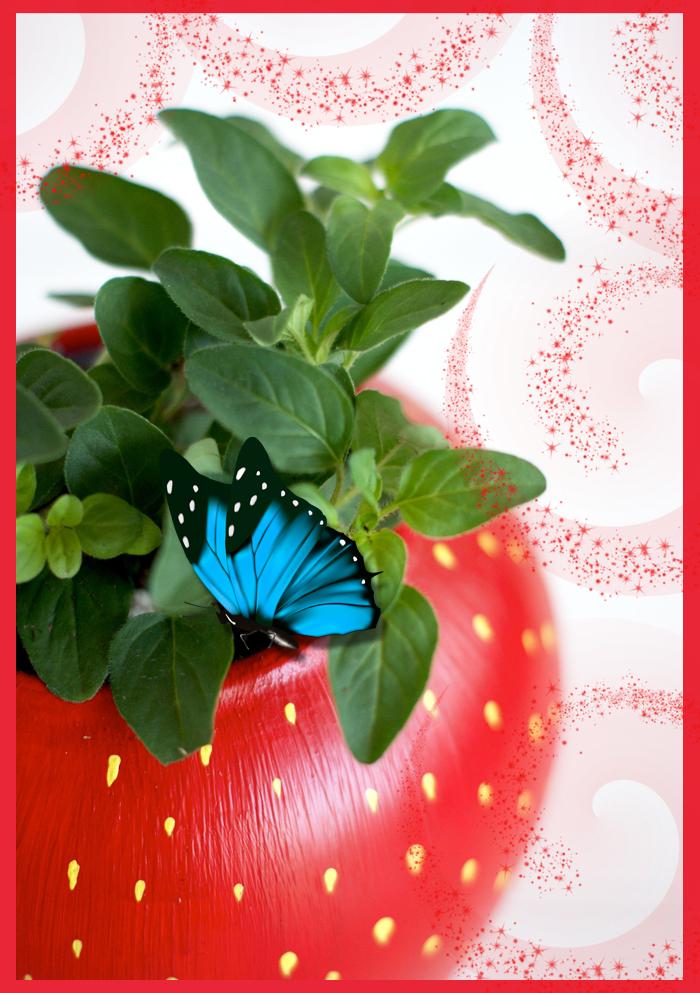 Переделка: как сделать цветочный горшок в виде клубники своими руками