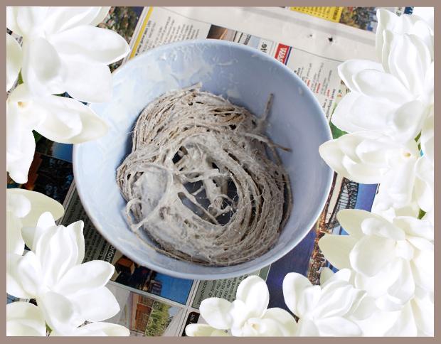 Ажурный эффект: ваза из шпагата своими руками без вязания