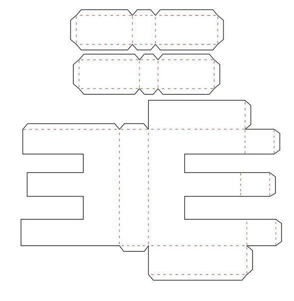 Новый год, объемные цифры из картона своими руками схемы шаблоны