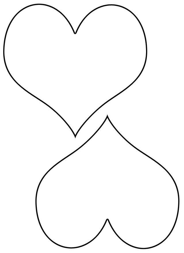 контурные картинки сердечек