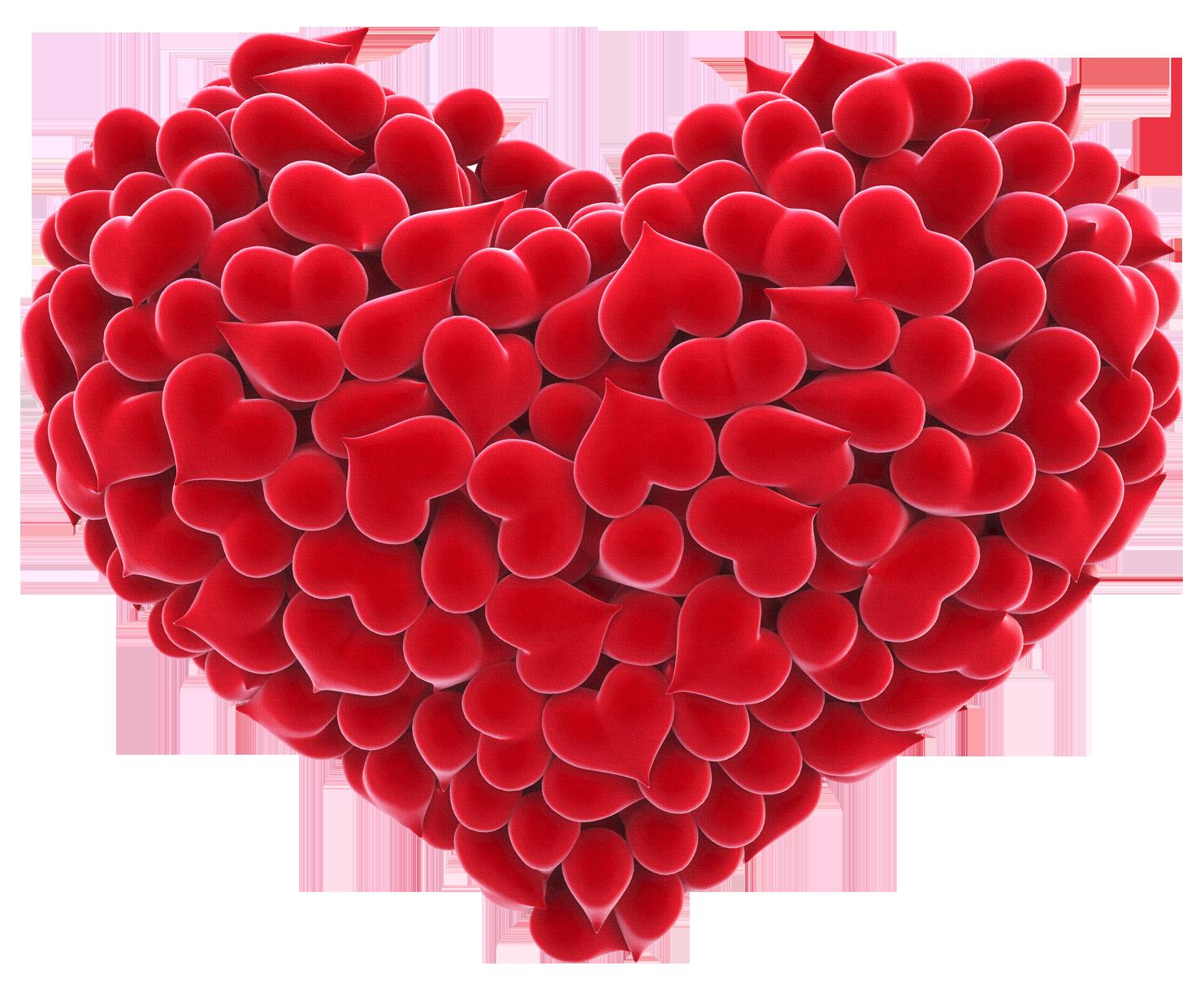 Картинки сердец красных