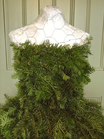 Как сделать елку манекен в платье своими руками (мастер-класс)
