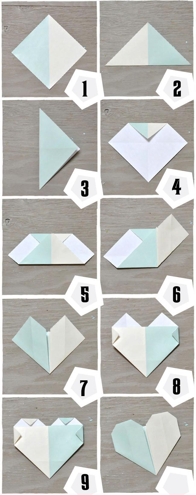 Как сделать оригами сердце.