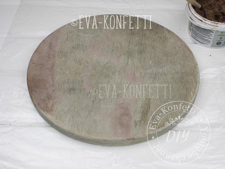 Столик для шезлонга своими руками из старого светильника (мастер-класс)